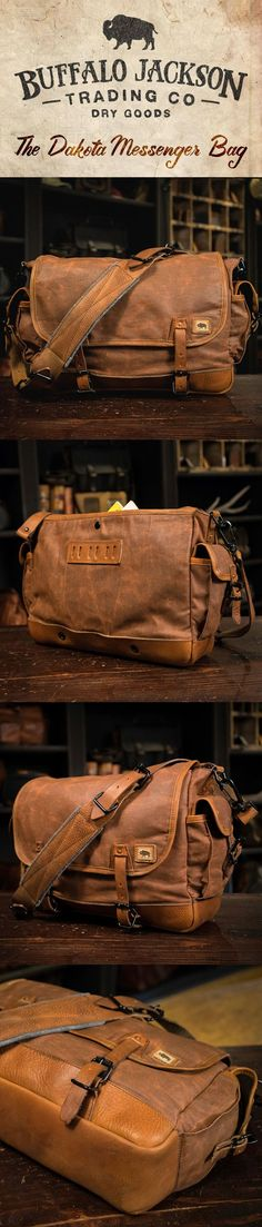 e387c773776d Dakota Waxed Canvas Messenger Bag