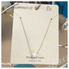 """Made With LVE freshwater pearl necklace in gold 16""""-18"""" adjustable is just beautiful!!! $13.99 @ Tree of Life Supplements, Gifts & More  #freahwaterpearls #shoptreeoflifesgm  treeoflifesgm@yahoo.com"""