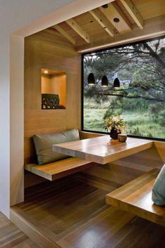 Home Room Design, Tiny House Design, Interior Design Living Room, Kitchen Design, Kitchen Ideas, Kitchen Interior, Kitchen Nook, Small Home Interior Design, Wood House Design