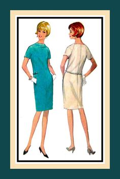 Vintage 1966 Couture Style Mod Dress by FarfallaDesignStudio, $28.00