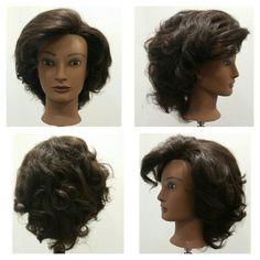 Brushed out barrel curls