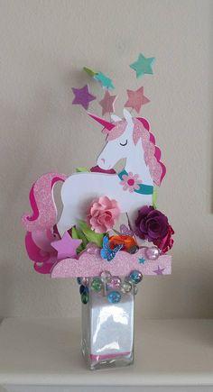 Unicorn Centerpiece Unicorn Party Decoration Unicorn Party