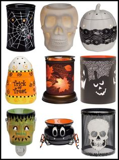 Scentsy is suiting up for just in time for Halloween. Creepy Crawler | Bonehead | Pumpkin & Lace | Candy Corn | Harvest Glow | Itsy Bitsy | It's Alive | Silhoutte Hallows | Silhoutte Bones