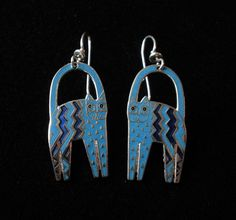 LAUREL BURCH Zig Zag Cat French Wire Earrings by Circa71Jewelry