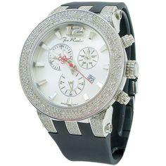 Joe Rodeo Men's 'Broadway' 5ctw Diamond Chronograph Watch
