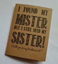Will you be my Bridesmaid Card Funny by invitesbythisandthat