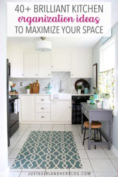 These brilliant kitchen organization ideas will help maximize your storage space and keep it neat and tidy! | #kitchen #organizedkitchen #kitchenorganization Home Organisation Tips, Small Space Organization, Kitchen Cabinet Organization, Home Office Organization, Storage Spaces, Organization Ideas, Organized Office, Organizing Tips, Kitchen Storage