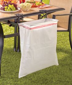 Trash-Ease® 13-Gallon Bag Holder great for backyard parties and picnics! The Trash-Ease also has it's own website