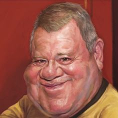 Image result for caricature captain kirk
