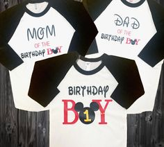 A personal favorite from my Etsy shop https://www.etsy.com/listing/488731643/mickey-mouse-first-birthday-t-shirt-set