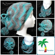The Zig Zag Slouchy hat that converts into a cowl too! #crochet #pattern-paradise #thepatternparadise