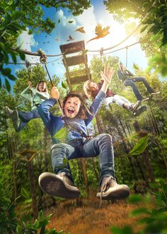 Key Art for the Go Ape! site at Chessington World of Adventures theme park in the UK. Creative Poster Design, Ads Creative, Creative Posters, Creative Portraits, Creative Advertising, Creative Photos, Creative Photography, Digital Art Photography, Illusion Photography