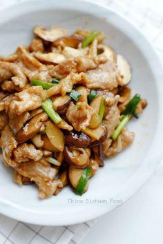 Pork Recipes pork and mushroom stir fry Meat Recipes, Asian Recipes, Cooking Recipes, Healthy Recipes, Asian Foods, Squid Recipes, Pork Recipes For Dinner, Oriental Recipes, Kitchen Recipes