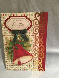 Anna Griffin holiday card kit and metallic borders.  MC #32