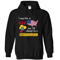 Ecuadorian in USA - #gifts for boyfriend #fathers gift. THE BEST => https://www.sunfrog.com/LifeStyle/Ecuadorian-in-USA-4683-Black-Hoodie.html?68278