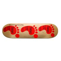 Satan under my feet Red Foot Agrainofmustardseed.com Skateboards.  Shop now 4 #JesusSeason add name or initials to any gift 4Free! #Skateboards #ChristianSkateboards #ChristianProducts #Agrainofmustardseed #Gift4Him #gifts #ChristmasGifts #Zazzle