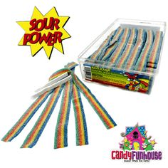 Sour Power Quattro Candy Belts are the originals! Four delicious sour candy flavours in one belt for a sensation that will tantalize your tongue and taste buds Frozen Easter Basket, Easter Baskets, Bubble Yum, Dyed Red Hair, Diy Barbie Clothes, Classic Candy, Sour Candy, Chocolate Lovers, Candy Recipes