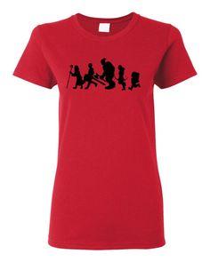 Choose Your Own Adventurer Black Silhouette Heavy Cotton Women's T-Shirt