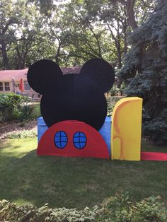 Mickey Mouse Clubhouse made out of cardboard