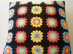 pillow from granny squares