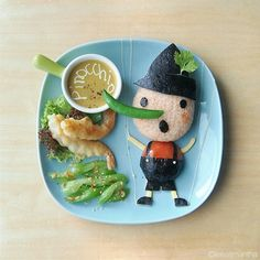 Pinocchio, food art by Samantha Lee - fancy-edibles.com