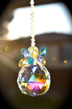 Swarovski Crystal Sun Catcher by OurGardenofbBeaden on Etsy, $22.00