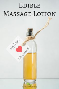DIY Edible Massage Lotion- by Scratch Mommy