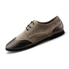 Mujer Zapatos Goma Otoño Confort Oxfords Tacón Bajo Dedo redondo Con Cordón Negro / Gris AAs0bWw2Z6