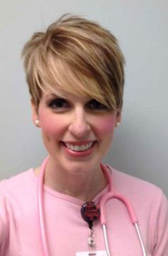 Womens Pixie Cuts with Long Bangs