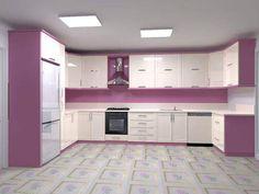 Purple Kitchen Cabinets, Kitchen Cupboard Colours, Kitchen Cabinet Interior, Kitchen Room Design, Kitchen Cabinet Remodel, Best Kitchen Designs, Home Decor Kitchen, Interior Design Kitchen, Kitchen Modular