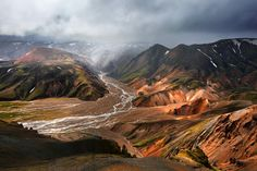 Landmannalaugar is a place in the Fjallabak Nature Reserve in the highland of Iceland