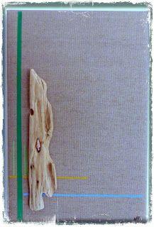http://mutozinc.blogspot.fr/ Driftwood and acrylic paint on cotton canvas bois flotté et peinture acrylique sur toile  de coton