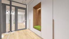 Dom szeregowy w Olsztynie - Hol / przedpokój, styl nowoczesny - zdjęcie od PRACOVNIA Projektowanie wnętrz