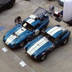 Daytona and a Cobra 289 FIA w removable hardtop