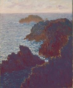 Rocks at Belle-Isle, Port-Domois by Claude Monet is an oil on canvas (28-1/2x23 inches) housed in The Saint Louis Art Museum.