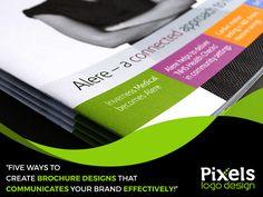 Five Ways to Create Brochure designs that communicates your Brand effectively… Corporate Brochure, Brochure Design, Logo Design, Social Networks, Create, Art, Art Background, Flyer Design, Kunst