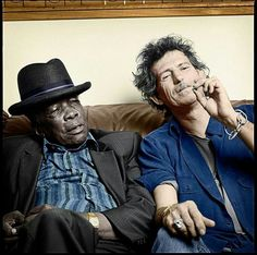 John Lee Hooker and Keith Richard Jazz Blues, Blues Music, Rock And Roll Bands, Rock N Roll, Rolling Stones, John Lee Hooker, The Blues Brothers, Outlaw Country, Delta Blues