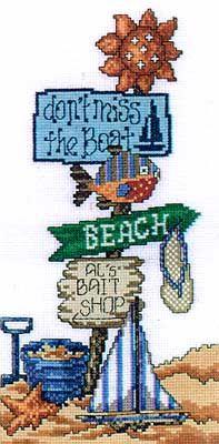 Don't Miss the Boat - Cross Stitch Pattern