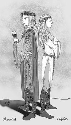 Thranduil and Legolas by ArtElleth87 on deviantART