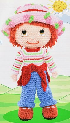 crochet strawberry shortcake doll---She was my fave as a child and still is
