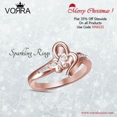 Merry Christmas to all of You!! Shop at www.vorrafashion.com & Get Flat 35% discount on each purchase  Coupon Code : XMAS35  #ChristmasOffers #Jewelry #Flat35PercentOff #ShoppingCarnival #Jewelry #Rings