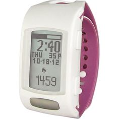 LIFETRAK Zone C410W Heart Rate/Fitness Monitor - White and Orchid
