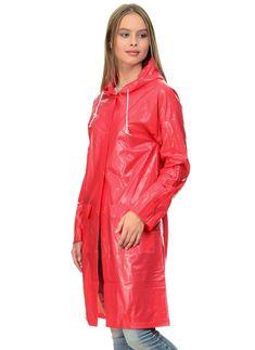 image Red Raincoat, Vinyl Raincoat, Plastic Raincoat, Girls Wear, Women Wear, Raincoats For Women, Rain Wear, Girls In Love, Sportswear