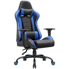 gaming desk Shop a great selection of JUMMICO Gaming Chair High-Back PU Leather Racing Chair Ergonomic Computer Desk Executive Home Office Chair Headrest Lumbar Support (Blue). Find new Office Gaming Chair, Executive Office Desk, Computer Desk Chair, Gaming Desk, Home Office Chairs, Executive Chair, Home Office Furniture, Blue Furniture, Adjustable Office Chair