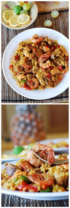 Easy Paella with Chicken, Shrimp, and Sausage | That's My Kitchen