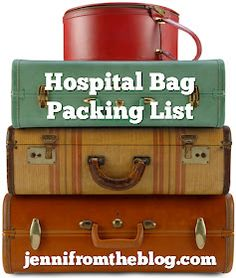 jenni from the blog: Hospital Bag Packing List