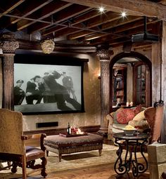 """Gerard Butler's Chelsea loft Designed by movie set designer Elvis Restaino, this 3,300 square-foot, two-story loft seems to incorporate just about every design style (save Contemporary Zen), with spectacular results! When asked to describe the loft's style, Butler offered, """"I guess I would describe the apartment as Bohemian old-world rustic château with a taste of baroque."""""""