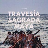 Cada año más de 300 canoeros cruzan remando de Xcaret a Cozumel, lee más sobre el rescate de una tradición maya. Cozumel, Journey, Pilgrimage, Mayo, Worship, Ocean, Island, Movie Posters, Block Island