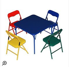 Childrens 5 Piece Square Table and Chair Set *** Check this awesome product by going to the link at the image.