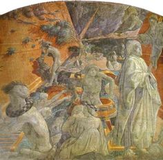 Paolo Uccello, The Deluge (detail), fresco in the Green Cloister of Santa Maria Novella, Florence